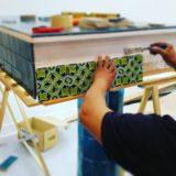 Handmade Collection Azulejo decorativo com relevo 14x14 cm 35