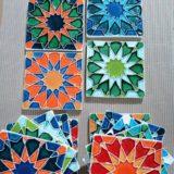 Handmade Collection Azulejo decorativo com relevo 14x14 cm 42