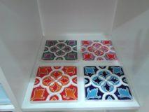 Handmade Collection Azulejo decorativo com relevo 14x14 cm 43