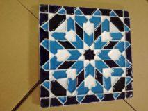 Handmade Collection Azulejo decorativo com relevo 14x14 cm 44