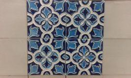 Handmade Collection Azulejo decorativo com relevo 14x14 cm 45