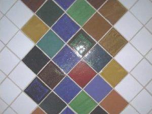 Painel azulejos vidrados
