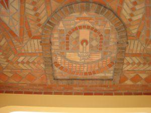 Pormenor de tecto decorado em terracota 6