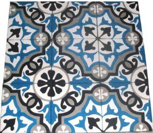 Ref 104 preto branco cinzento azul