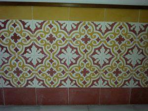 Ref 112 Amarelo Branco Bordeaux Ref 151 Mosaico Liso Revestimento em parede 2