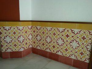 Ref 112 Amarelo Branco Bordeaux Ref 151 Mosaico Liso Revestimento em parede 3