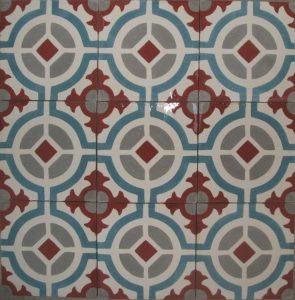 Ref 122 Branco bordeaux cinzento e azul