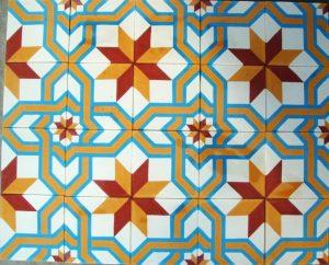Ref 26 Mosaico Branco Azul Amarelo Laranja