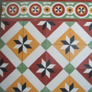 Ref 39 Ref 167 Faixa Estrela Branco bordeaux amarelo verde preto