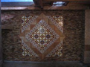 Ref 41 Mosaico Hidraulico Ref 172 Faixa Pajaritos Painel decorativo