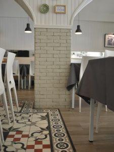 Ref 603 terracota para revestimento 20x5x2 cm pilar revestido e pintadas de branco