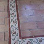 Ref 165 Mosaico Hidraulico Faixa Margarita Ref 202 Ladrilho 30x15 cm Barro Natural Herdade dos Lagos