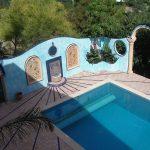 Ref 201 ladrilho santa catarina 30x15 cm riscas combinado com azulejo vidrado terraco 2