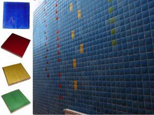 Ref 257 43 261 256 Parede em azulejos vidrados