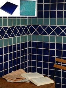 Ref 258 195 Parede em azulejos vidrados