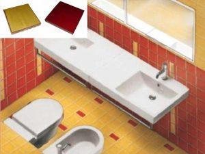 Ref 261 43 Casa de banho em azulejos vidrados