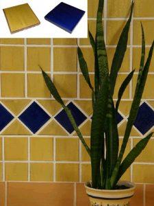 Ref 261 e 258 Parede em azulejos vidrados