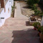 Ref 304 Ladrilho 30x30 cm desenformado a areia barro ao natural Escadas