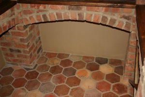 Ref 408 Ladrilho Hexagonal pavimento antigo 1