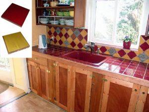 Ref 43 e Ref 261 Cozinha e bancada em azulejo vidrado