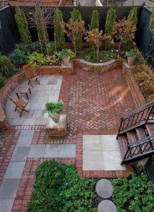Ref 601 tijolo burro Jardim com terraco em tijolo burro
