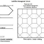 Ladrilho Hexagonal 20 cm