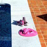 Ref 301 Ladrilho 20x20 cm desenformado a areia terraco de piscina