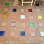 Ref 409 ladrilho hexagonal desenformado a areia Terracota Vidrada 15x15 cm