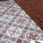 Ref 501 Pavimento em mosaico hidraulico e terracota manual 30x75 cm