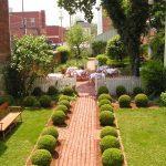 Ref 601 Tijolo Burro 20x10x4 cm Jardim com passadeira