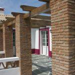 Ref 601 Tijolo Burro 20x10x4 cm pergola com pilares