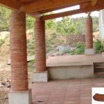 Ref 605 Curvas terracota pilares recondos