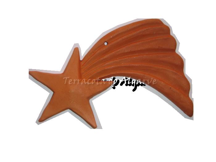 Ceramica decorativa não vidrada Estrela Cadente