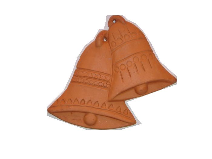 Ceramica decorativa não vidrada Sinos 1