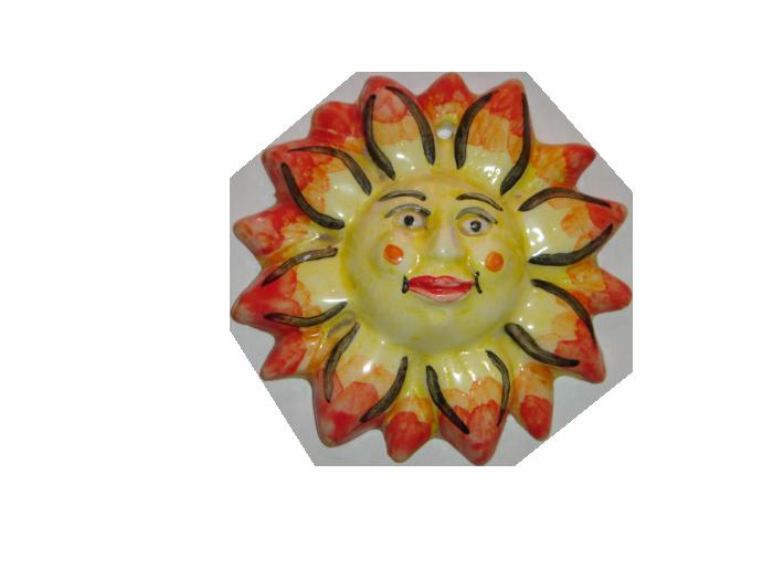 Ceramica decorativa vidrada Sol 1 1