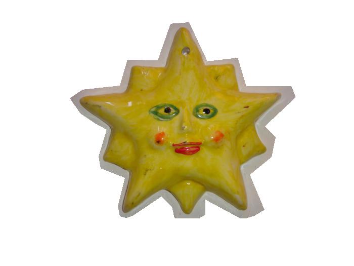 Ceramica decorativa vidrada Sol 2 1